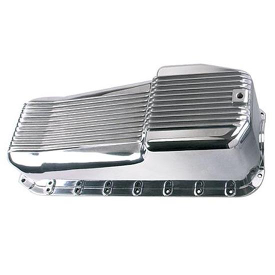 Finned Aluminum Oil Pan Small Block Chevy 55-79