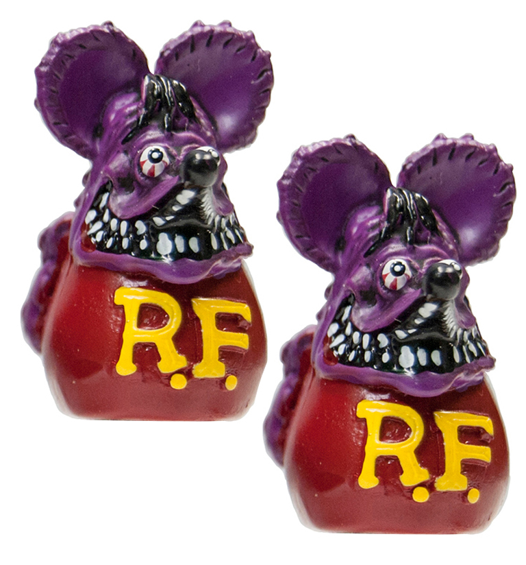 Rat Fink Valve Caps Purple